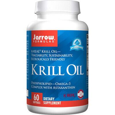 Öl 60 Gels (Krill Öl, 500mg X 60 Softgel, Herz, Cholesterin, Energie - Jarrow Formulas)