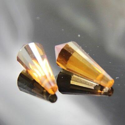 4pcs 8x20mm Swarovski cone-shape crystal beads B wine-red