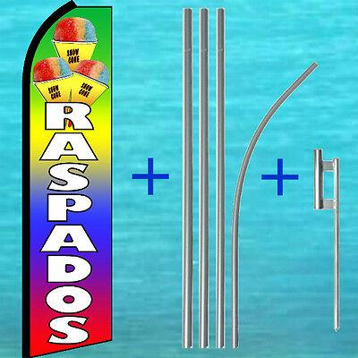 Raspados Swooper Flag Pole Mount Kit Tall Flutter Feather Banner Sign 30-1704