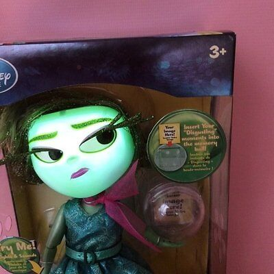 Disney Store Talking Disgust Inside Out Deluxe Light Up Doll Genuine New in Box