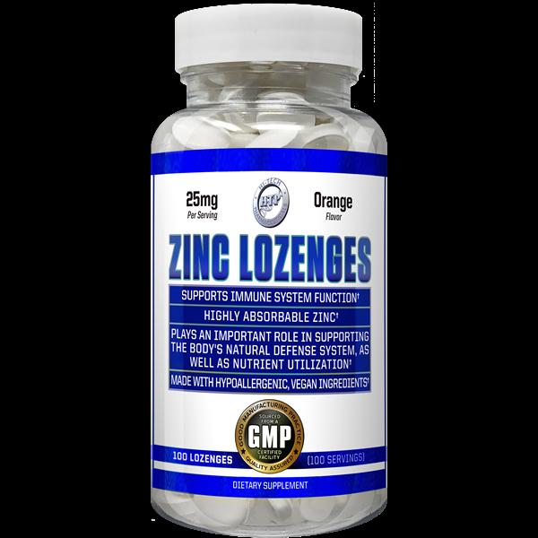 Chewable Hi Tech Zinc Lozenges 25mg - 50mg 100 Tablets Orange Flavor IMMUNITY