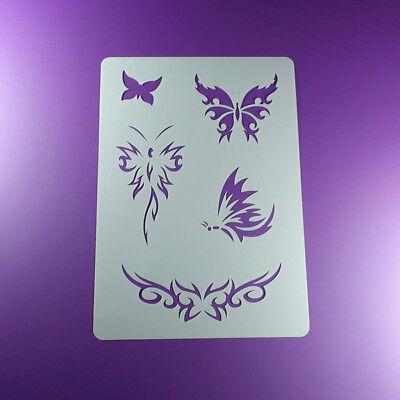 A4 Schablone Butterfly Tribal Schmetterlinge - BT414