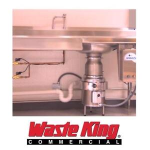 NEW WASTE KING GARBAGE DISPOSAL 5000-3 143411211 3 PHASE 5 HP COMMERCIAL GRADE 1740 RPM 8.0 AMP KITCHEN SINK BASIN PL...