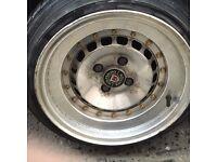 "Golf mk1 / mk2 e30 4x100 Schmitz alloys genuine can post 14"""