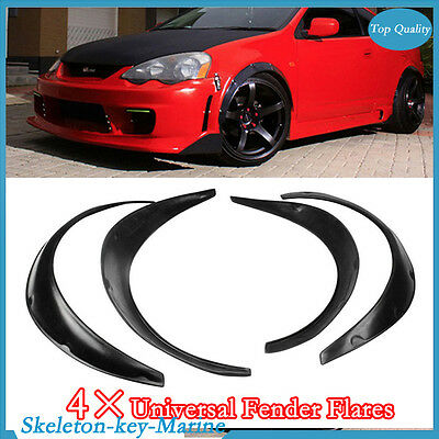 4Pcs Flexible Black Polyurethane Car Automobile Exterior Fender Flares Superior