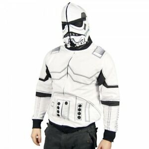 BRAND NEW! SIZE S! Star Wars White Storm Trooper Costume Hoodie