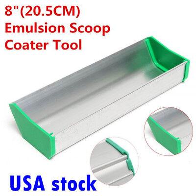 Us Stock 8 Aluminum Dual Edge Emulsion Scoop Coater For Screen Printing