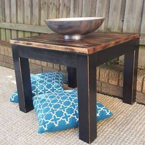 Square Distressed Timber Side Coffee Table Coogee Eastern Suburbs Preview