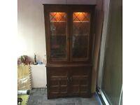Old charm style dresser dark oak excellent condition