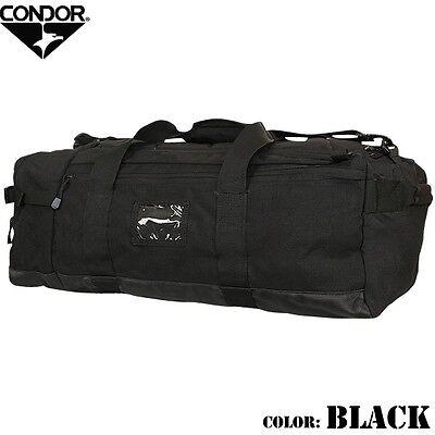 Condor 161 BLACK COLOSSUS Tactical Duffle Bag Backpack Shoulder Bag