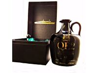 QE2 Ceramic Whisky Decanter Single Malt Over 12 years old
