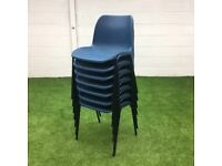 Blue Plastic Stacking Chair 8 available