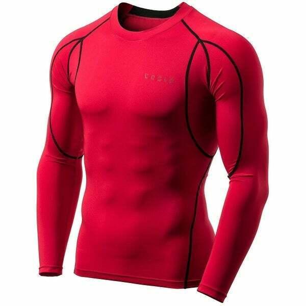 TESLA MUD11 Cool Dry Long Sleeve Compression Shirt RED & Bla