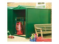 Garden secure steel shed