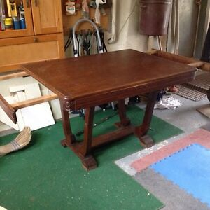 Antique dining table $80