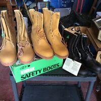 Three pairs of brand new safety boots