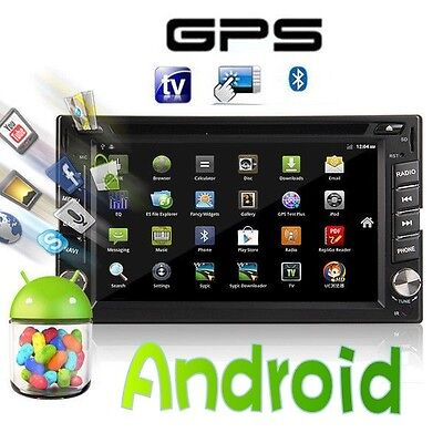 """Pure Android 2Din Car Stereo GPS DVD Player 6.2"""" Tablet Double DIN Radio 3G WiFi on Rummage"""