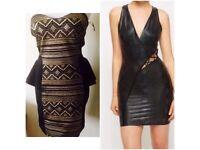 Job lot bundle of black dresses size S 8 & 10