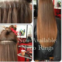 LINA'S HAIR EXTENSIONS-$349 @ Red Door Salon Nano Fusion Micro