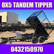 8X5 TANDEM HYDRAULIC TIPPER TRAILER W CAGE HEAVY DUTY BOX TRAILER Clayton Monash Area Preview