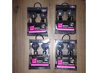 Brand new in pack x 4 packs black crackle ball hold backs