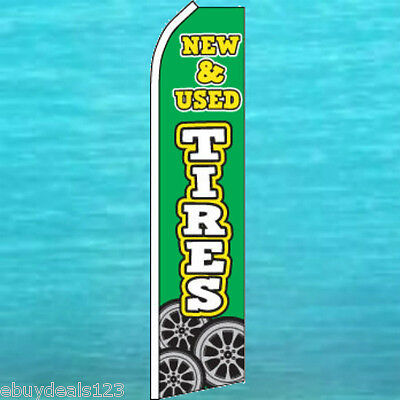 New Used Tires Flutter Flag Tall Advertising Sign Feather Swooper Banner 1943