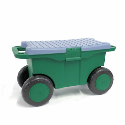 garden tool cart with storage seat
