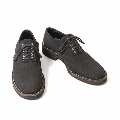 COMME des GARCONS HOMME Linen lace-up shoes Size US 6(K-48841)