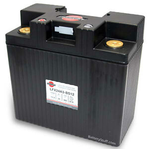LITHIUM SHORAI BATTERY FOR MOTORCYCLES AND ATVS LFX24A3-BS12