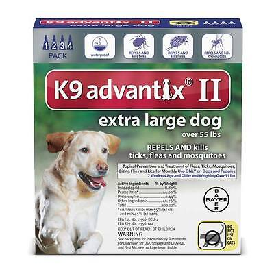 Professional Spot On Topical Flea & Tick Treatment for Dogs over 55 lbs Blue