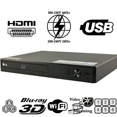 Details about LG 550 Multi Region Code Free All Zone ABC Blu Ray DVD Player  Wi-Fi - 3D - NEW