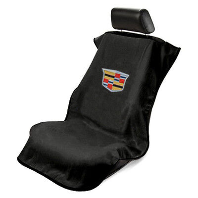 Seat Armour Front Car Seat Cover For New Cadillac - Black Terry Cloth