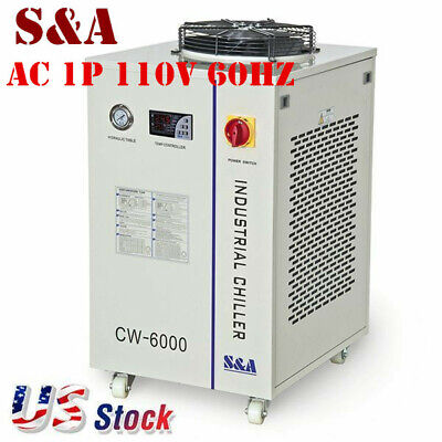 Usa Cw-5300di Industrial Water Chiller For 200w Co2 Laser 18kw Cnc Spindle 110v