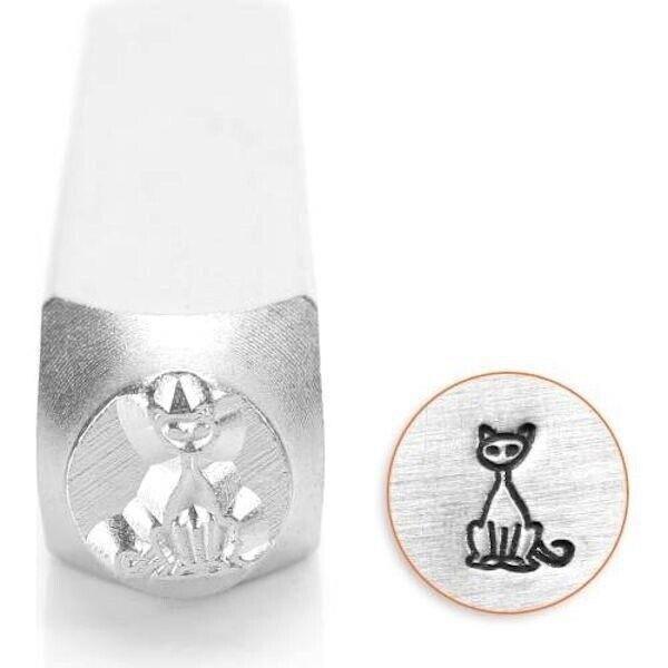 1 ImpressArt Carbon Tool Steel 6mm SITTING CAT Metal Stamp Punch *