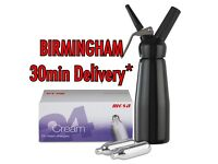**DISCOUNT CREAM CHARGERS** BIRMINGHAM ALL AREAS - MOSA - NOS