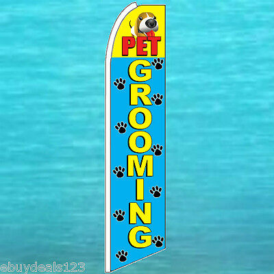 Pet Grooming Flutter Feather Flag Swooper Advertising Sign Bow Banner