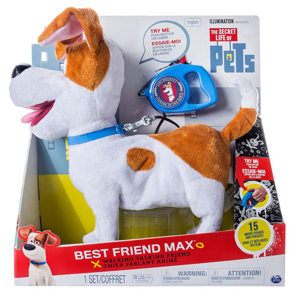 The Secret Life Of Pets Real Walking Best Friend Max & Lead - Spinmaster 6034130