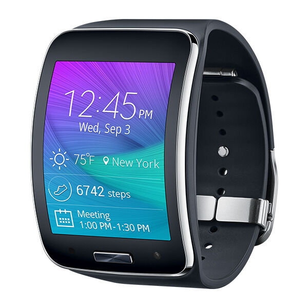 Samsung Galaxy Gear S SM R750T Smart Watch Charcoal Black T Mobile