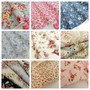 FLORAL-FABRICS-material-sold-per-half-metre-44-112cm-wide-100-cotton