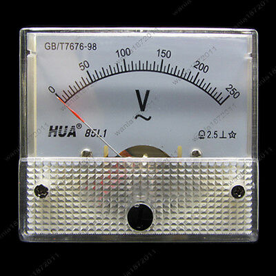Ac 250v Analog Voltmeter Panel Pointer Volt Voltage Meter Gauge 85l1 0-250v Ac