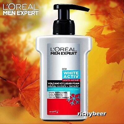 Men Liquid Face Wash - 1x150 ml. L'oreal Men Expert White  ANTI-ACNE VOLCANO ICY LIQUID FOAM Face Wash