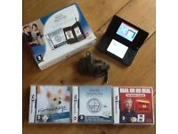 Nintendo DS Lite boxed with 3 games and charger