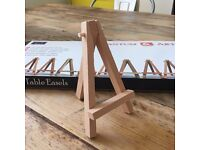 19 x Mini Table Easels - Perfect for Wedding Table Names or Numbers