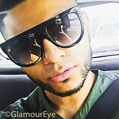 Mens Large Big Shadow Flat Top Round Hipster Shades Popular Sunglasses 9891 XL