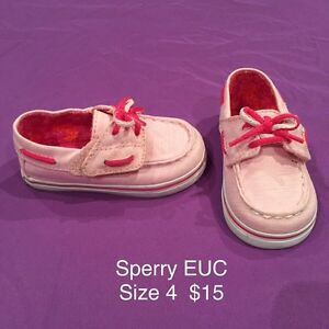 Baby girl size 4 Toms, Sperry, Wee Squeaks