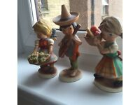Set of cute little figures from German manufacturer from the Hummel design circa 1950