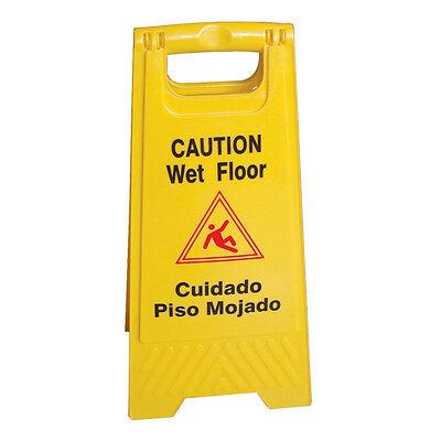 Wet Floor Caution Sign Yellow 24 H X 12 W Plastics