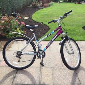 Ladies Raleigh 18 speed mantis bicycle