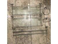 Bathroom Fixtures / Furniture chrome and glass with fittings