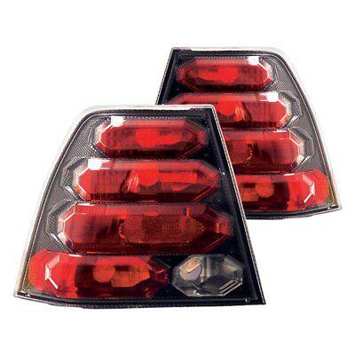 For Volkswagen Jetta 1999-2005 IPCW Carbon Fiber/Red Euro Tail Lights Clear Tail Lights Carbon Fiber
